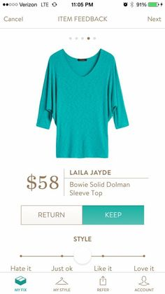 Laila Jade Bowie solid dolman top - May 2016 fix https://www.stitchfix.com/referral/7225995