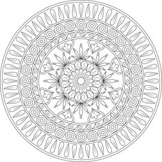 Pin by monday mandala on printable mandalas to color - free Mandala Art, Mandalas Painting, Mandalas Drawing, Mandala Coloring Pages, Free Coloring Pages, Coloring Books, Zentangles, Printable Coloring Sheets, Design Tattoo