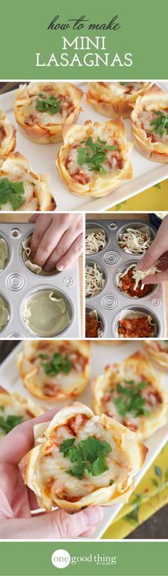 How to Make Mini Lasagnas For Kids Of All Ages - One Good Thing by Jillee