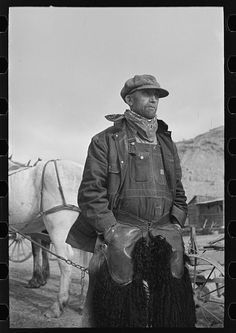 Farmer in chaps, Sheridan County, Montana. By Photographer Russell Lee, 1903-1986