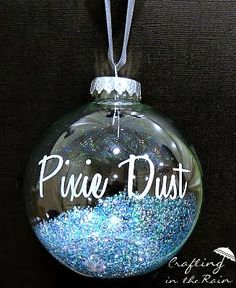 Pixie Dust Disneyland Ornament | Crafting in the Rain