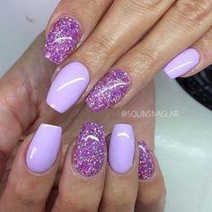 toe nail tips Blue Diy Nail Designs, Colorful Nail Designs, Purple Glitter Nails, Sns Nails Colors, Nailed It, No Chip Nails, Lavender Nails, Sassy Nails, Beach Nails