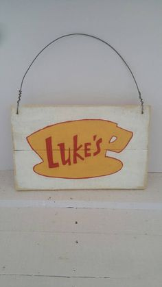 """Gilmore Girls """"Lukes Diner"""" Wood Sign! Coffee nook idea!"""