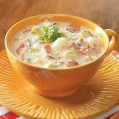 Potatoes Soup Recipe from Taste of Home -- shared by Mary Shivers of Ada, Oklahoma