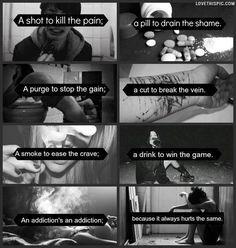 addictions depressive black and white dark dark quote