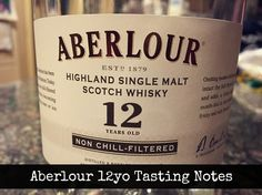 Tasting Notes on Aberlour's 12yo Double Cask Matured Highland Single Malt Whisky