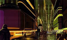 Bladerunner Concept Art - possibly drawn by Syd Mead?