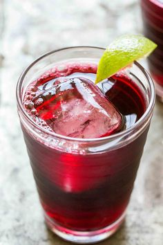 Agua de Jamaica (aka Hibiscus tea) is an infusion of dried hibiscus flowers. Popular at Mexican taquerias, this agua fresca is loaded with Vitamin C and can even lower blood pressure! #healthy  #aguafresca #drink #hibiscus On SimplyRecipes.com