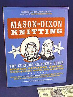 Mason-Dixon Knitting Book Kay Gardiner Ann Shayne Knitters Guide 1st Edition Crafts:Art Supplies:Instruction Books & Media www.internetauctionservicesllc.com $19.99