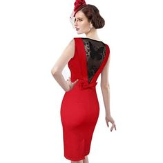 7492dc1588e3 Women Sexy Elegant See Through Back Bow Butterfly Lace Party Evening S