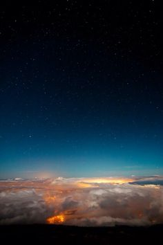Night, Above And Below the Clouds