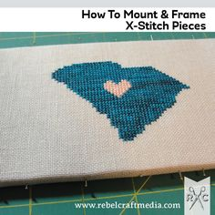 How To Mount & Frame Finished Cross Stitch Modern Cross Stitch, Cross Stitch Designs, Cross Stitch Patterns, Cross Stitching, Cross Stitch Embroidery, Craft Tutorials, Craft Ideas, Creative Crafts, Quilting Projects