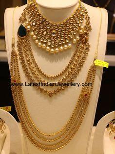 Layered Uncut Diamond Bridal Jewellery