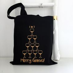 Christmas Gin bag   Gin lovers gift  Kelly by KellyConnorDesigns