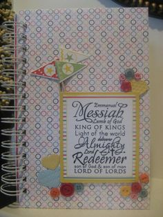 Cheerful Youthful Prayer Journal by abcande on Etsy, $18.00