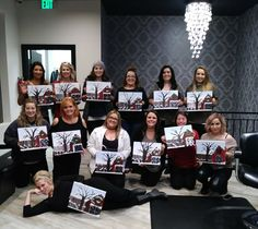 November 2017. Thank you to the ladies of Daniel Ross Salon. Not shocking that these paintings turned out so good since these ladies are artists, only a different medium. Such a fun group!!