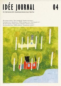 秋山 花 : フリーペーパー「IDEE journal」No.4 / IDEE / 2012年/ AD:森本直樹