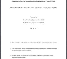 """Evaluating Special Education Administrators"".   Illinois Alliance of Administrators of Special Education Fall Conference handout 9/12. Main Site http://www.iaase.org/static.asp?path=3938  Pinned by SOS Inc. Resources http://pinterest.com/sostherapy."
