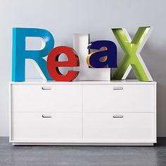 gloss low dresser in all storage | CB2