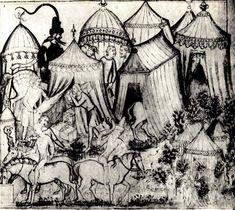 "Encampment. Italian c. 1360, Terra Teutonica 1360-1425"" • Просмотр темы - Шатры и тенты terra-teutonica.ru800 × 714Search by image Roman du Roy Meliadus de Leonnoys (1352 год)"