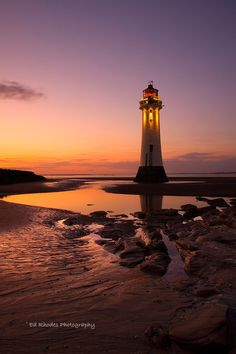 Perch Rock - New Brighton - England - by Night by Ed Rhodes on 500px