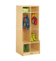 Kids Wooden Coat Locker with Seats and Cubbies for sale! These are perfect storage choices in mudrooms, entry ways, play rooms and more! Equipped with seats and cubbies and feature rounded corners and edges for safety. Preschool Cubbies, Kids Locker, Locker Ideas, School Furniture, Kids Furniture, Desk Organization, Organizing, Wood Design, Lockers