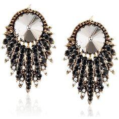 Amazon.com: ZMJ Classic Popular Luxury Stud Earrings Black Stunning... ($20) ❤ liked on Polyvore featuring jewelry, earrings, retro earrings, retro style jewelry, stud earrings, retro jewelry and earrings jewelry