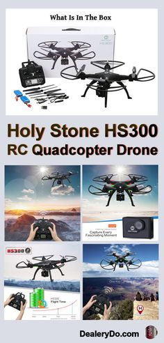 Holy Stone HS300 RC Quadcopter 1080P Camera Drone - This Holy Stone drone is the perfect drone if you need a really great camera.