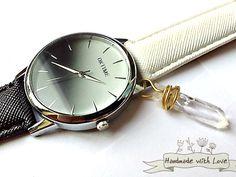 Armbanduhren - EINHORN Regenbogen Armbanduhr Kristall Stein Uhr - ein Designerstück von Mont_Klamott bei DaWanda
