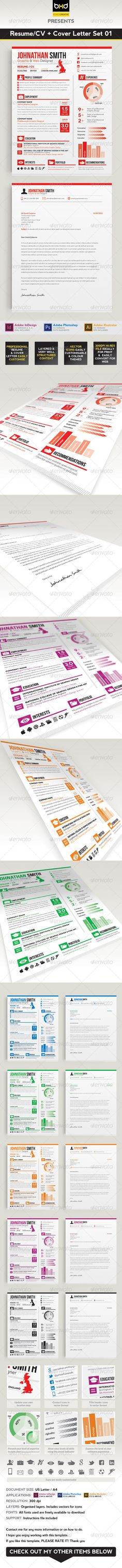 Creative Resume Cover Letter \ Icon Pack Resume cover letters - cv and cover letter
