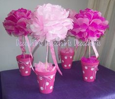 blog sobre ideas de cumpleaños y fiestas infantiles, comuniones, baby shower, 15 años, eventos, imprimibles y mas. Centerpiece Decorations, Party Centerpieces, Birthday Decorations, Flower Decorations, Diy Party, Party Favors, Mom Birthday, Birthday Parties, Barbie Party