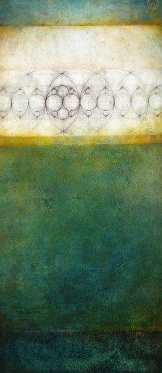 "Luisa Sartori, Celaya  2010  graphite, oil on prepared paper  13"" x 30"""