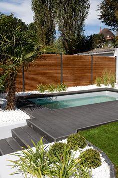 piscine enterr e sur terrain en pente piscine pinterest recherche. Black Bedroom Furniture Sets. Home Design Ideas