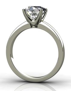 Four-claw solitaire engagement ring, designed and handcrafted by Phillip Stoner the Jeweller.