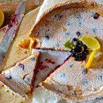 Lemon & blackcurrant tart - recipe at Hells Belles' Bites