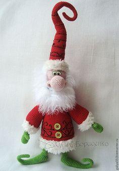 Купить мастер-класс по вязанию Новогоднего Дедульки - дед мороз, новогодний…
