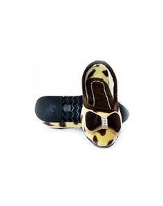 Brown Czarina Leopard Ballet Flats