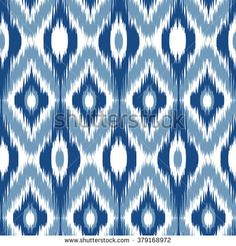 Find Blue Ikat Ogee Seamless Background Pattern stock images in HD and millions of other royalty-free stock photos, illustrations and vectors in the Shutterstock collection. Ikat Pattern, Pattern Art, Pattern Design, Print Patterns, Craft Images, Ikat Fabric, Seamless Background, Abstract Shapes, Geometric Designs