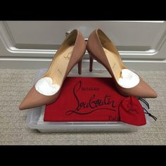 Christian Louboutin Pigalle 100 mm Authentic CL Pigalle 100 mm pumps in nude patent leather. In perfect condition, only worn once. Come with the dust bag and extra heel piece. No box Christian Louboutin Shoes