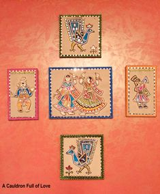 Realm of Regality: Gargi's Noida Home – A Cauldron Full of Love Clay Wall Art, Mural Wall Art, Mural Painting, Clay Art, Paintings, Diy Diwali Decorations, Canvas Art Projects, Madhubani Art, Bright Art