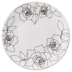★ welcome to the pleasure of entertaining daily Frenchbull ★ Painted Plates, Ceramic Plates, Porcelain Ceramics, Porcelain Jewelry, Fine Porcelain, China Painting, Ceramic Painting, Ceramic Art, Pottery Painting Designs