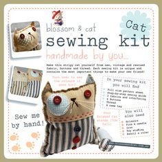 blossom & cat sewing kit-
