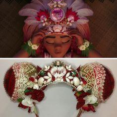 New custom ordered Moana inspired ears! I love their regal beauty! Disney Ears Headband, Diy Disney Ears, Disney Headbands, Disney Mickey Ears, Disney Bows, Cute Disney, Disney Outfits, Mickey Ears Diy, Ear Headbands