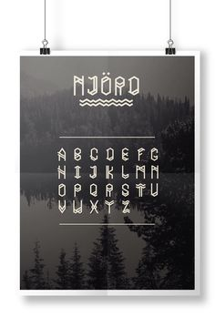 NJÖRD - Viking typography by Salomé Fize www.salomefize.viking-lab.fr