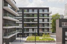 Court facades. Housing Danon Lille by KAAN Architecten. Pic @svd_fotografie