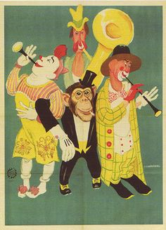 Circus Truppe van Jaap Best op postkaart