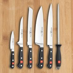 I will never use another knife if I don't have to! Wusthof Classic 6 Piece Cook's Set | CHEFScatalog.com