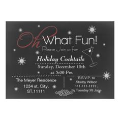 Chalkboard Holiday party Invitation on www.mgdezigns.com #Christmas #Holidays