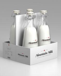 Packaging -Tine Melk - Mountain Milk by Anders Drage, via Behance Packaging Carton, Dairy Packaging, Milk Packaging, Food Packaging Design, Beverage Packaging, Bottle Packaging, Pretty Packaging, Packaging Design Inspiration, Brand Packaging