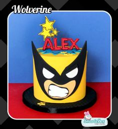 Mini Wolverine Cake Plus Novelty Birthday Cakes, Birthday Cupcakes, Wolverine Cake, Little Boy Cakes, Toddler Arts And Crafts, Single Tier Cake, Cakes Plus, Hulk, Monster High Party